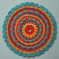 Crochet Mandala Wheel made by Ann, Belgium, for yarndale.co.uk
