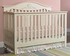 This is the finished crib painted with Annie Sloan chalk ...