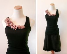 Ruffled tank and pleated skirt DIY outfit! Guest project