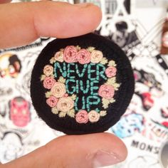 """34 Likes, 2 Comments - •mending(he)art• (@ginevra_nihil) on Instagram: """"⚗ #tiny #handmade #stiches #handembroidery #patch #patchgame #nevergiveup #riseandshine…"""""""