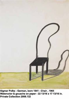 artwork: Sigmar Polke German, born 1941 Chair , 1965 Watercolor & gouache on paper - 22 13/16 x 17 13/16 in. Private Collection 2008.132