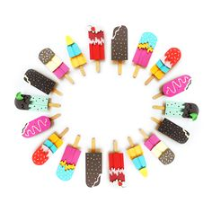 Paper Ice Lollies by Polly Lindsay - love these! Would make fun play food for a little one's play kitchen!