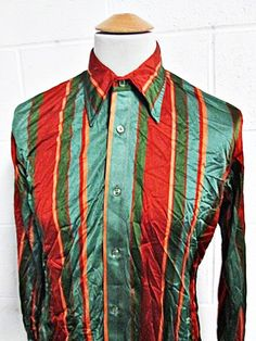Prom dress 70s disco shirts for men