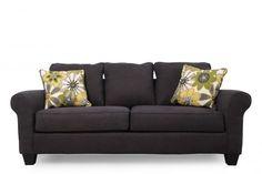 ASH-1650138 - Ashley Nolana Charcoal Sofa   Mathis Brothers Furniture $400