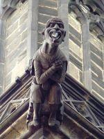 Chrám sv. Víta - chrliče a plastiky vnějšího ochozu t