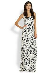 Parker Cassie Silk Floral-Print Maxi Dress