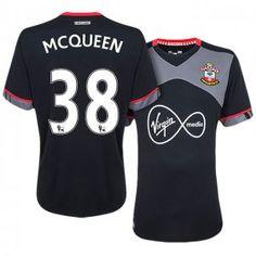 Southampton Away 16-17 Season #38 Mcqueen Black Soccer Jersey [J247]