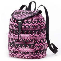 Candie's Riley Aztec Backpack (Pink) ($35) ❤ liked on Polyvore
