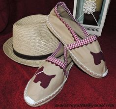 Not for me, but Mom would like these with her sweetly spoiled fur babies on them! Creative Embroidery, Summer Design, Leather Bags Handmade, Shoe Show, Kinds Of Shoes, Summer Hats, Beach Sandals, Canvas Leather, Shoe Brands
