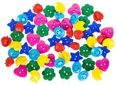 buttinette Kinderknöpfe, aus Kunststoff, Größe: 13 - 20 mm Ø, Inhalt: 60 Stück € 4,95