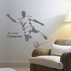 MrS Shop PVC Large Soccer Ball Football Wall Sticker For Boys Bedroom Decor Wall Art Decals Sport Poster -- Find out more about the great product at the image link.Note:It is affiliate link to Amazon.