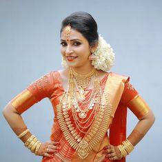 Image may contain: 1 person Kerala Saree, Indian Bridal Fashion, Indian Bridal Wear, South Indian Weddings, South Indian Bride, Malayali Bride, Wedding Saree Blouse, Bridal Sarees, Kerala Bride
