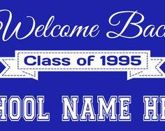 Welcome Back Class Reunion Banner