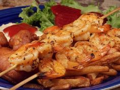 Grilled prawns with garlic and herbs