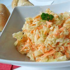 Recept na salát coleslaw krok za krokem - Vaření.cz Coleslaw, Cabbage, Salad, Vegetables, Coleslaw Salad, Cabbages, Salads, Vegetable Recipes, Lettuce