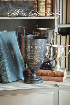 Antique Rowing Club Trophy Cup 1913 Silverplate by edithandevelyn on Etsy