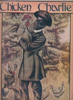 Chicken Charlie 1905 Sheet Music by Ashley Ballou Black Americana Rooster #antique #vintage #sheetmusic #blackamericana