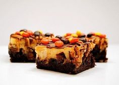 Ultimate Reeses Cheesecake Brownie Bars!