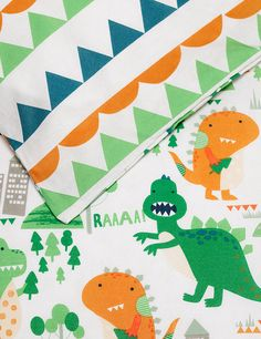 Pure Cotton Dinosaur Print Bedding Set