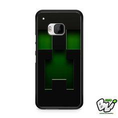 Black Creeper Face Minecraft HTC One M9 Case