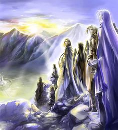 Then Ulmo returned to the sea, and Turgon sent forth all his people, even to a third part of the Noldor of Fingolfin's follwing, and a yet greater host of the Sindar; and they passed away, company by company, secretly, under the shadows of Ered Wethrin, and they came unseen to Gondolin.'