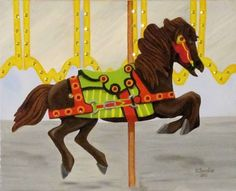 by Orphie Barella, Carousel Horse with sequins