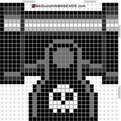 hama beads cañon super mario negro
