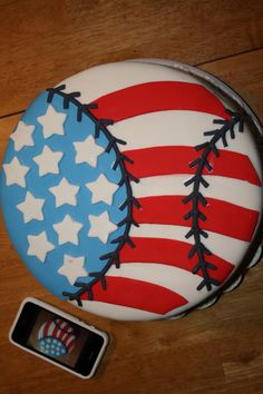 All American Game - I made this cake for my ball players (sons) for the 4th of July  this cake was huge, it's a 12 inch, 3 layer cake with pineapple  filling, the cake it's actually a Nicaraguan recipe, it's kinda of fluffy and very flavorful.