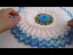 Crochet Applique Patterns Free, Crochet Flower Patterns, Doily Patterns, Crochet Chart, Crochet Flowers, Crochet Stitches, Crochet Baby, Knit Crochet, Crochet Flower Tutorial