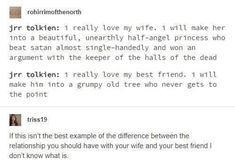 How Luthien and Treebeard came to be<<<if y'all don't know about the friendship between J. Tolkien and C. Lewis, you're missing out. it's pretty hilarious. My Tumblr, Tumblr Posts, Tumblr Funny, Lotr, Love Me Better, J. R. R. Tolkien, Into The West, Book Fandoms, Lord Of The Rings