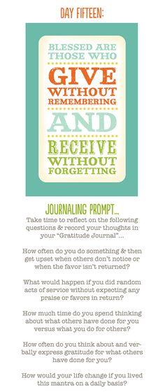 Gratitude - Charity - The light of Christ