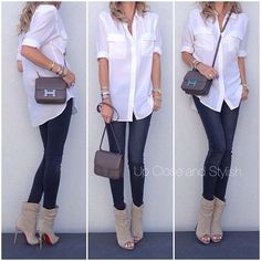 Today - shirt, jeans, 'Guerilla' open toe boots and bag in small (color Etain). Spring Summer Fashion, Autumn Winter Fashion, Open Toe Boots, Casual Outfits, Cute Outfits, Business Outfits, Fall Winter Outfits, Casual Chic, Passion For Fashion