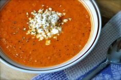 Fire-Roasted Tomato Bisque   Once Upon a Recipe