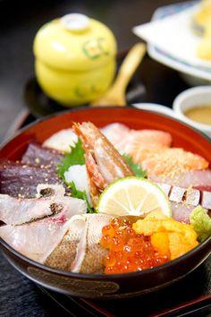 海鮮丼@喜水亭