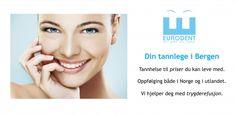 Årets konkurranse hos Eurodent Bergen. Vinn 10 000 NOK til tannbehandling eller en av 10 gratis undersøkelser!