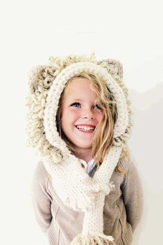 Leroy the Lion Hooded Scarf Pattern