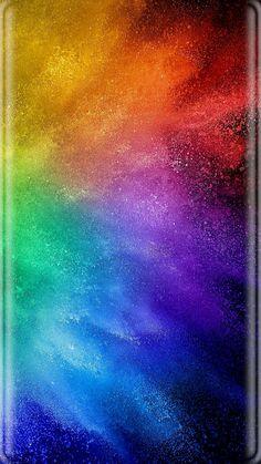 Rainbow Bursts Wallpaper