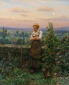'Time to Rest' by DanIel Ridgway Knight (1839 - 1924)