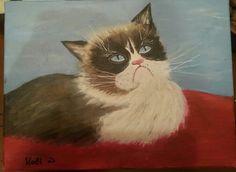Acrylic painting 18/12/2015 #painting #art Painting Art, Cats, Animals, Gatos, Animaux, Animales, Cat, Art Paintings, Kitty