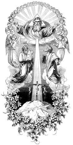 transfiguration crucifixion moses elias elijah god the father Best Sleeve Tattoos, Tattoo Sleeve Designs, Body Art Tattoos, Forearm Sleeve Tattoos, Christ Tattoo, Jesus Tattoo, Catholic Art, Religious Art, Religion Tattoos