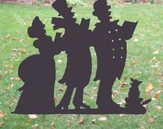 Christmas Caroling Silhouette Garden Stake / Christmas Decoration / Outdoor / Metal / Holiday / Garden Art/ Yard Art / Lawn Ornament