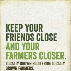 We love this! Find your local growers at gobuylocal.com!