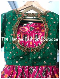 Wedding Saree Blouse Designs, Half Saree Designs, Blouse Designs Silk, Indian Maternity Wear, Sangeet Outfit, Maggam Works, Long Gown Dress, Frocks For Girls, Frock Design