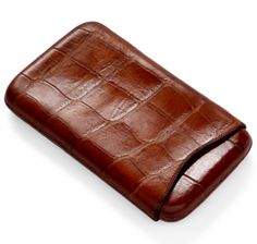 Large Antique Crocodile Leather Cigar Case | SIR JACK'S