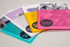Personal Identity & Portfolio Cards by Rachel Brooks, via Behance. translucent sleeve