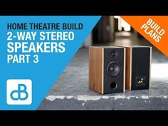 In this video I am assembling the enclosures for the pair of stereo speakers for use in my home theatre for the front left and right channels. This video wil. Hifi Audio, Stereo Speakers, Home Theater, Theatre, Dayton Audio, Wooden Speakers, Impact Driver, 2 Way, Bricolage