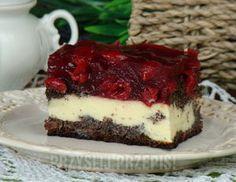 Izaura makowo - serowa pod wiśniami Sweets Cake, Cookie Desserts, Fun Desserts, Dessert Recipes, Polish Recipes, Baking Tips, Cake Cookies, Biscotti, Baked Goods