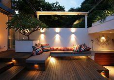 Gartengestaltung-Ideen-für-den-modernen-Garten-mit-Beleuchtung - 30 Gartengestaltung Ideen – Der Traumgarten zu Hause