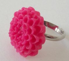 Flower Ring in Fuschia by Robynesque on Etsy, $7.00