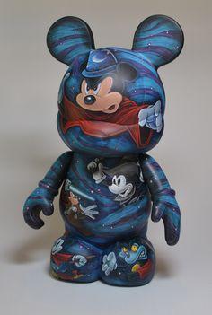 "Mickey 9"" Jared Circusbear Custom Vinylmation"